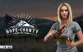 Preview wallpaper Far Cry 5, blonde girl