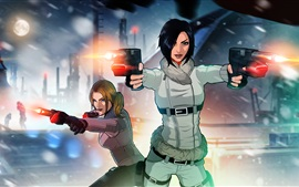 Preview wallpaper Fear Effect, PS games, two girls, gun