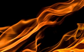 Fire, flame, black background