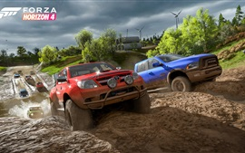 Preview wallpaper Forza Horizon 4, road, cars