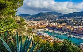 Preview wallpaper French Riviera, Nice, yachts, port, city