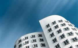 미리보기 배경 화면 게리 하우스, 뒤셀도르프, 창문들, 건축, 독일
