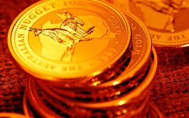 Preview wallpaper Gold coins, money