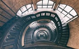 Hamburgo, trilhos, casa, escada, Alemanha