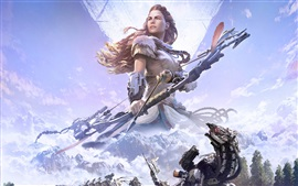 Horizon: Zero Dawn, arqueiro, garota, jogos PS4