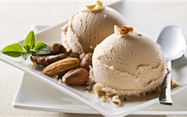 Preview wallpaper Ice cream, nuts, dessert