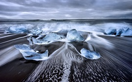 Iceland, Laguna, sea, ice