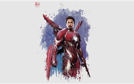 Aperçu fond d'écran Iron Man, The Avengers: la guerre d'infini, photo d'art