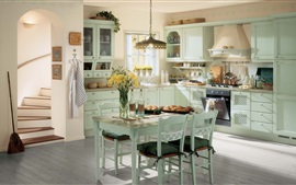 Kitchen, room, interior, vintage