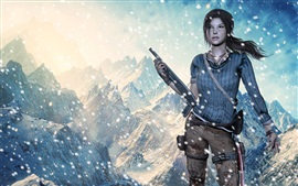 Lara Croft, Tomb Raider, snowy mountains