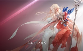 Vorschau des Hintergrundbilder Lost Ark, schönes Mädchen, Elf, Online-Spiele