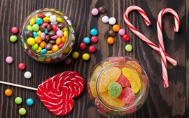 Preview wallpaper Many candy, lollipops, colorful