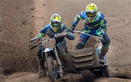 Preview wallpaper Motorcycle race, sport, dirt