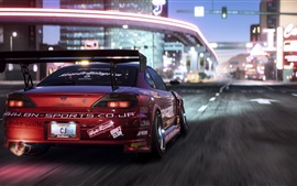 Need For Speed: Payback, vista trasera del auto de carrera Nissan