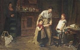 Novos amigos, 1875, pintura a óleo, Bertha Wegmann