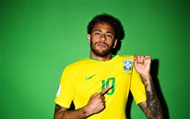 Preview wallpaper Neymar, Russia 2018, FIFA World Cup