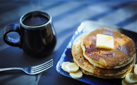 Preview wallpaper Pancake, coffee, breakfast