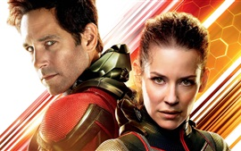 Paul Rudd, Evangeline Lilly, Ant-Man y la avispa