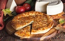 Пирог, помидоры, сыр