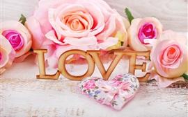 Rosas cor de rosa, amor, romântico
