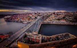 Preview wallpaper Portugal, Old City, port, river, bridge