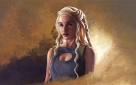 Queen Daenerys, Game of Thrones, art picture