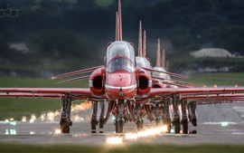 Red Arrows, aeronaves, vista frontal