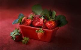 Ripe strawberry, juicy fruit