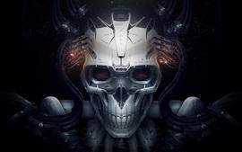 Crânio, robô, design criativo