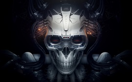 Preview wallpaper Skull, robot, creative design