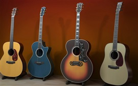 Preview wallpaper Some guitars, musical instrument