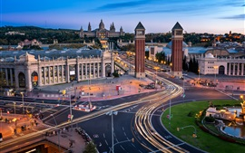 Preview wallpaper Spain, Barcelona, roads, tower, architecture, city