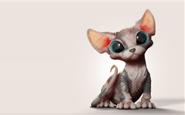 Preview wallpaper Sphynx cat, art picture