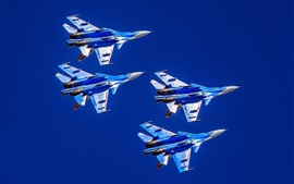 Preview wallpaper Su-30CM multi-role fighter, flight, sky