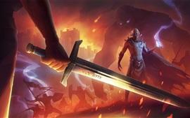 Aperçu fond d'écran Épée, feu, jeu
