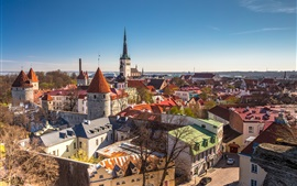 Preview wallpaper Tallinn, Estonia, city, houses