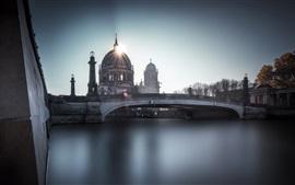 Berliner Dom, Berlín, río, puente, Alemania