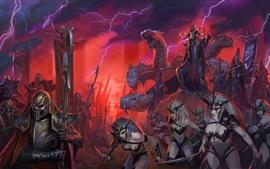 Полная война: Warhammer II, воин, монстр, молния