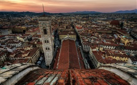Preview wallpaper Tuscany, Florence, Italy, city top view, roof