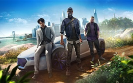 Preview wallpaper Watch Dogs 2, hacker, car, city