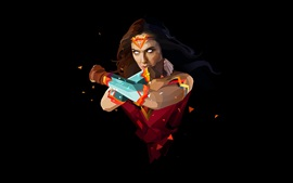 Preview wallpaper Wonder Woman, superhero, art style, black background