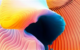 Preview wallpaper Abstract picture, curves, orange and blue