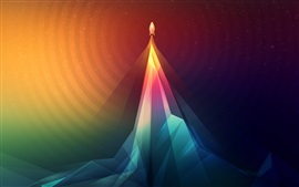 Preview wallpaper Abstraction, rocket, take off, art picture