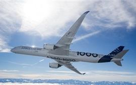 미리보기 배경 화면 에어 버스 A350-1000 비행기