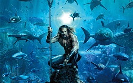 Preview wallpaper Aquaman, DC comics movie 2018