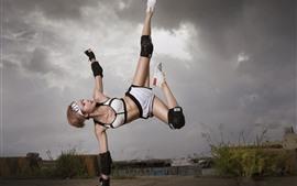 アジアの女の子、フィットネス、トレーニング