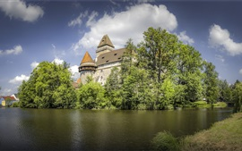 Preview wallpaper Austria, Castle Heidenreichstein, trees, pond