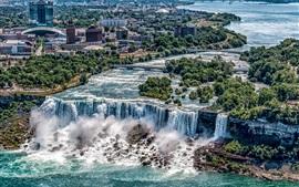 Красивые водопады, Ниагарский водопад, Нью-Йорк, США