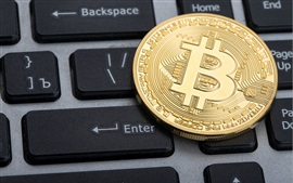 Preview wallpaper Bitcoin, keyboard