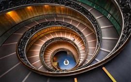 Preview wallpaper Bramante Staircase, spiral, Vatican Museums
